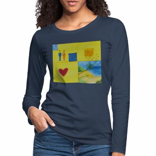 Viererwunsch - Frauen Premium Langarmshirt