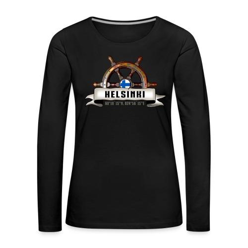 Helsinki Ruori - Merelliset tekstiilit ja lahjat - Naisten premium pitkähihainen t-paita