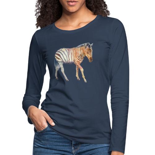 Zebra grants - Dame premium T-shirt med lange ærmer
