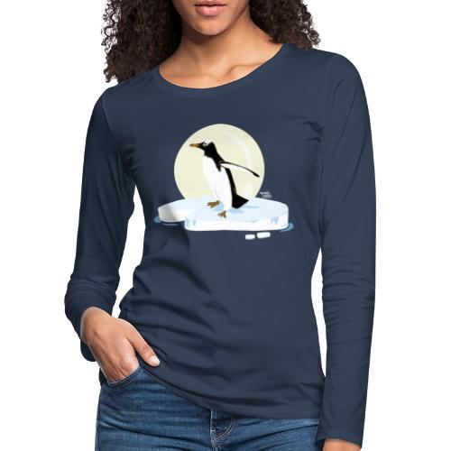 Ijzige pinguïn - T-shirt manches longues Premium Femme