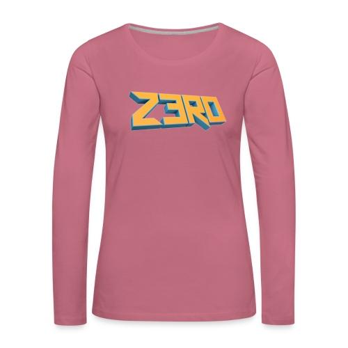 The Z3R0 Shirt - Women's Premium Longsleeve Shirt