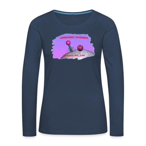 T-Shirt Virenscanner zwecklos für Männer - Frauen Premium Langarmshirt