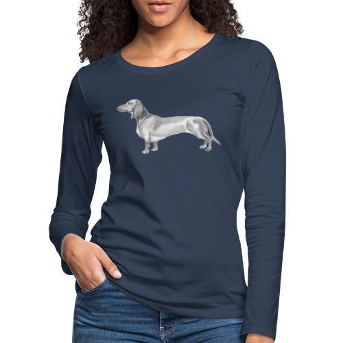 Dachshund smooth haired - Dame premium T-shirt med lange ærmer