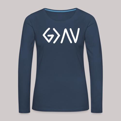 Dios es GRANDE - Camiseta de manga larga premium mujer