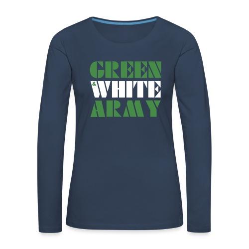 GREEN & WHITE ARMY - Women's Premium Longsleeve Shirt
