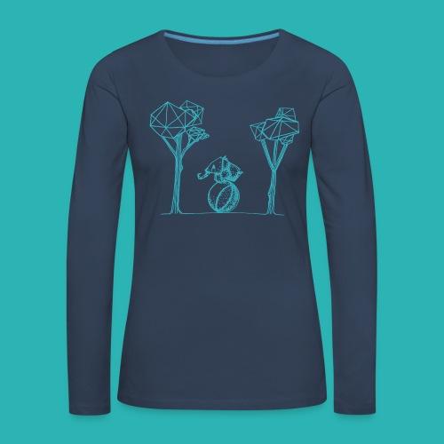 Rotolare_o_capitombolare_lightblu-png - Maglietta Premium a manica lunga da donna