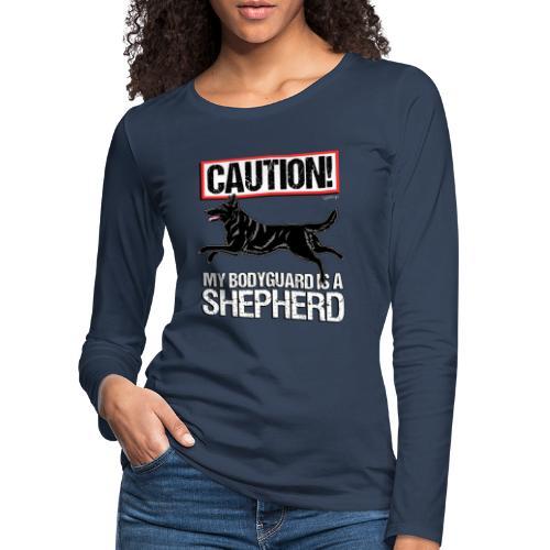 GSD Bodyguard German - Naisten premium pitkähihainen t-paita