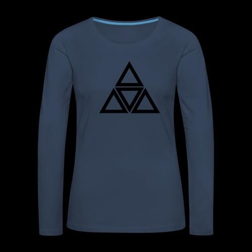 triangle - Maglietta Premium a manica lunga da donna
