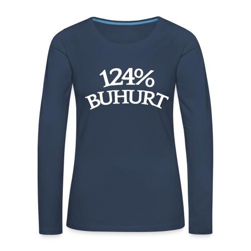 124 - Naisten premium pitkähihainen t-paita