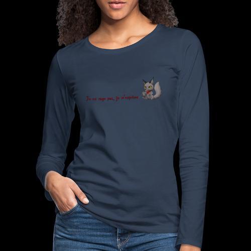 RavenWolfire Design - T-shirt manches longues Premium Femme