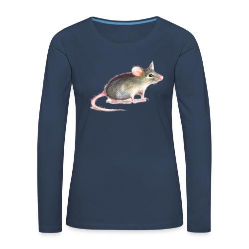 Kleine graue Maus - Frauen Premium Langarmshirt