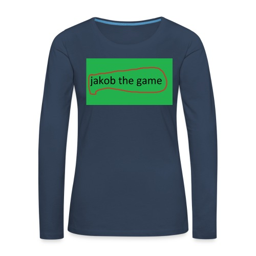 jakob the game - Dame premium T-shirt med lange ærmer