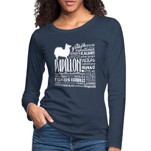 papillonsanat - Naisten premium pitkähihainen t-paita
