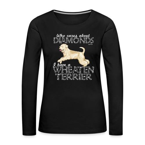 Wheaten Terrier Diamonds 4 - Women's Premium Longsleeve Shirt