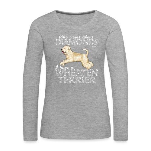 Wheaten Terrier Diamonds 4 - Women's Premium Longsleeve Shirt