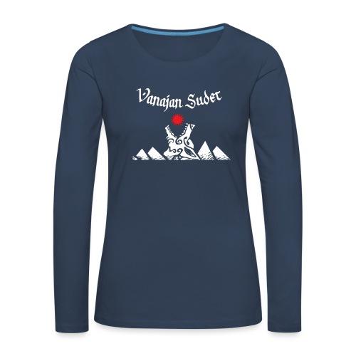 Auringonsyöjä - Naisten premium pitkähihainen t-paita
