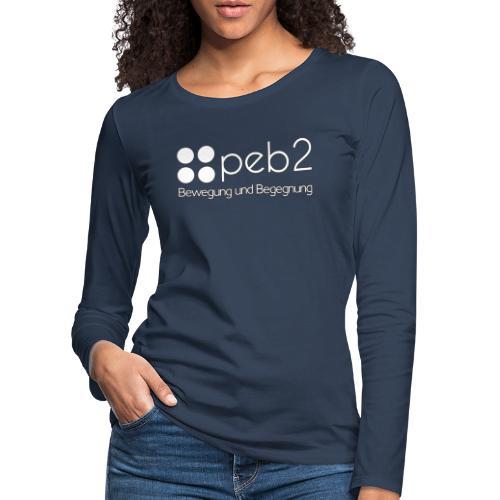 Logo peb2 weiss - Frauen Premium Langarmshirt