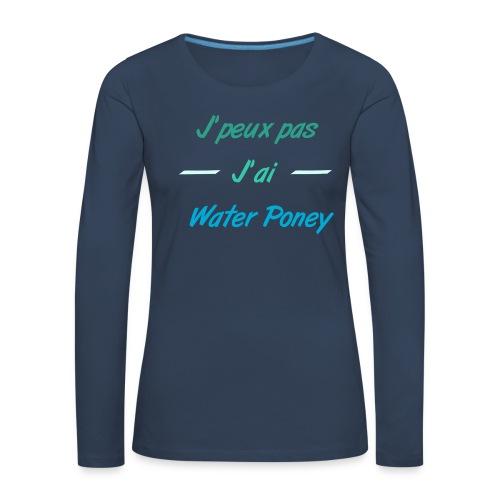 Water Poney - T-shirt manches longues Premium Femme