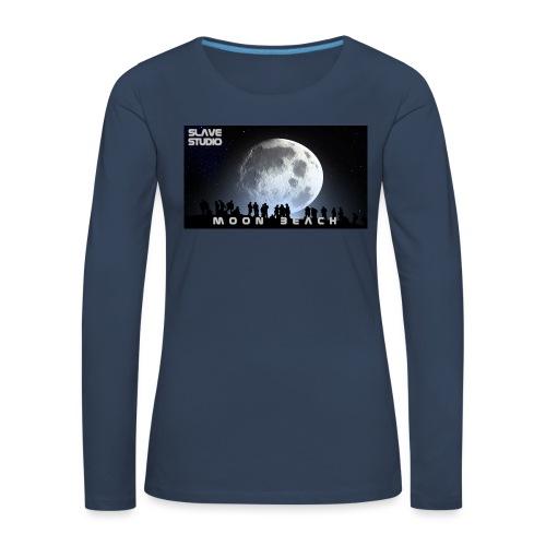Moon beach - Maglietta Premium a manica lunga da donna