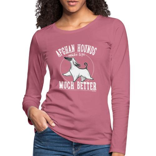 Afghans Better - Naisten premium pitkähihainen t-paita