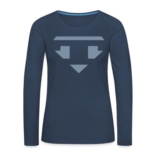 Twanneman logo Reverse - Vrouwen Premium shirt met lange mouwen