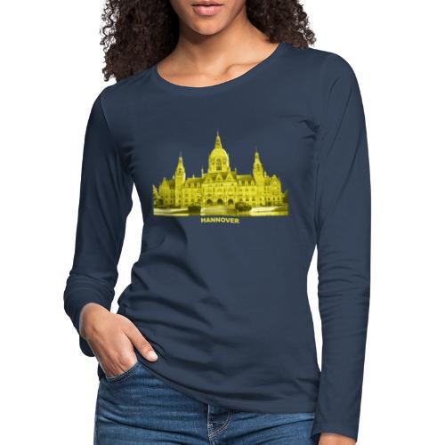 Hannover Rathaus Niedersachsen - Frauen Premium Langarmshirt