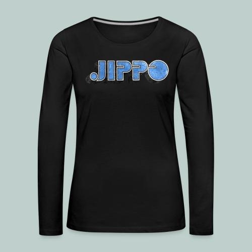 JIPPO LOGO (blue) - Naisten premium pitkähihainen t-paita