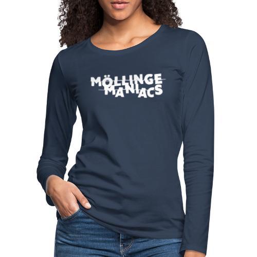 Möllinge Maniacs Vit logga - Långärmad premium-T-shirt dam