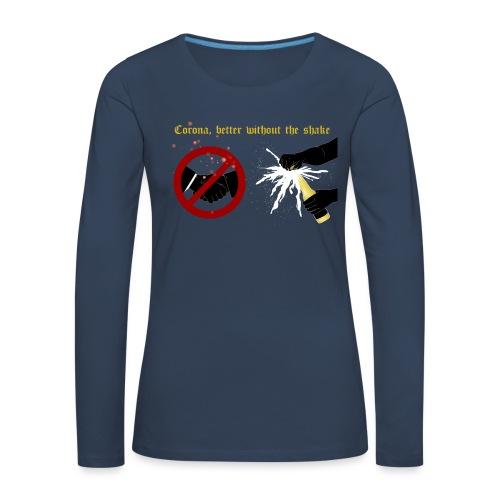 corona - Långärmad premium-T-shirt dam