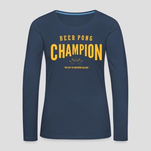Beerpong Champion T-Shirt - Frauen Premium Langarmshirt