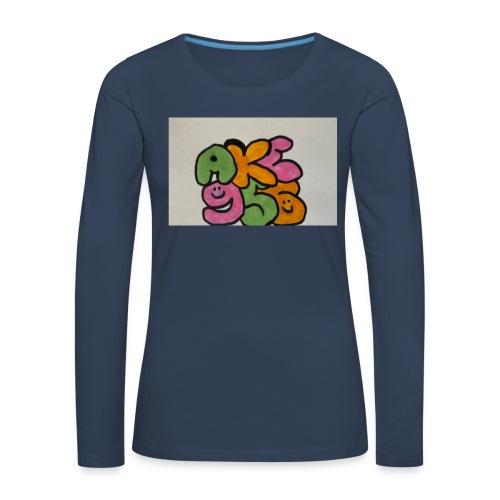 E89892AC 5A00 4C02 9486 886E5E9B97EC - Långärmad premium-T-shirt dam