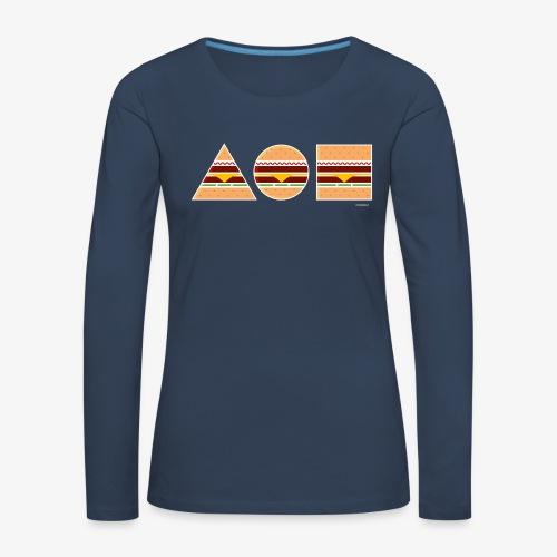 Graphic Burgers - Maglietta Premium a manica lunga da donna