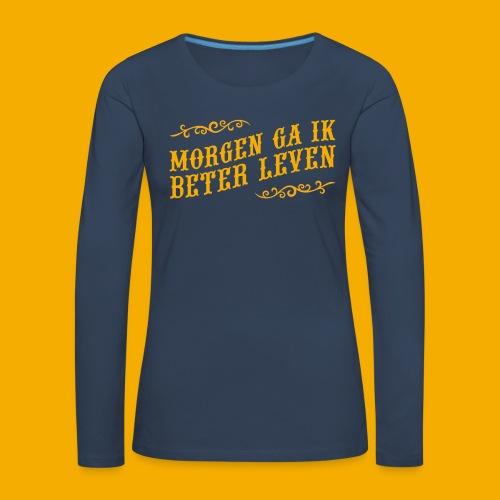 tshirt yllw 01 - Vrouwen Premium shirt met lange mouwen