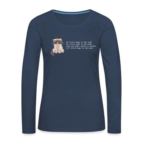 99bugs - white - Vrouwen Premium shirt met lange mouwen