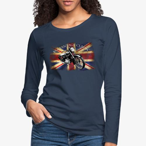 Vintage famous Brittish BSA motorcycle icon - Women's Premium Longsleeve Shirt