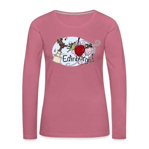 I love Edinburgh - Women's Premium Longsleeve Shirt