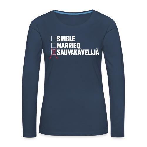 Sauvakävelijä - Naisten premium pitkähihainen t-paita