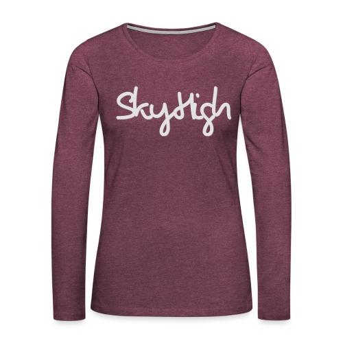 SkyHigh - Bella Women's Sweater - Light Gray - Women's Premium Longsleeve Shirt
