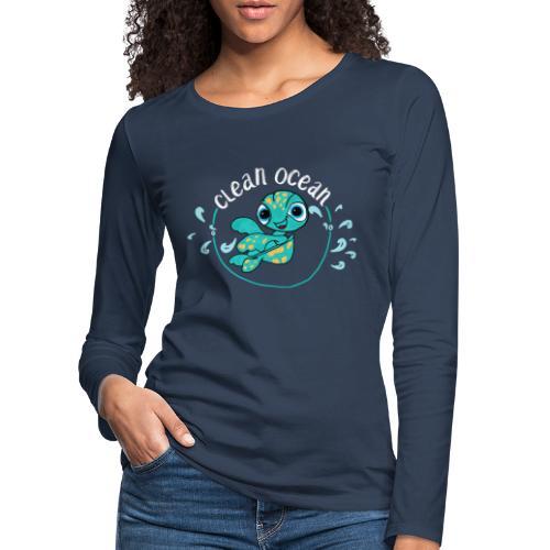 Clean Ocean - Women's Premium Longsleeve Shirt