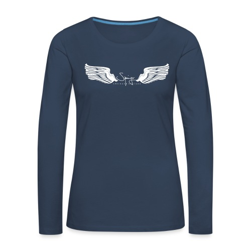 Seraph Wings white - T-shirt manches longues Premium Femme