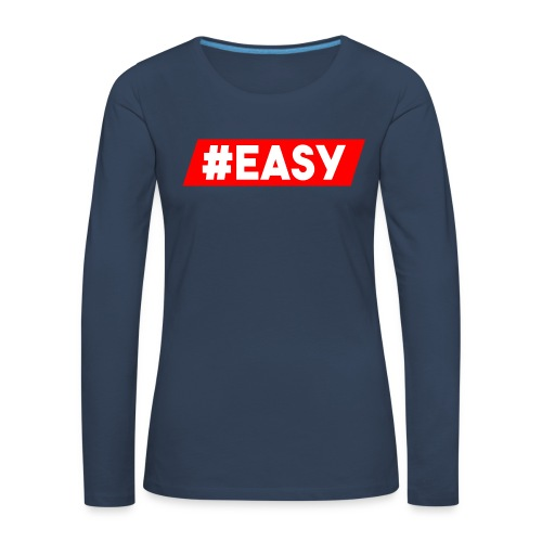 #EASY Classic Logo Snapback - Maglietta Premium a manica lunga da donna