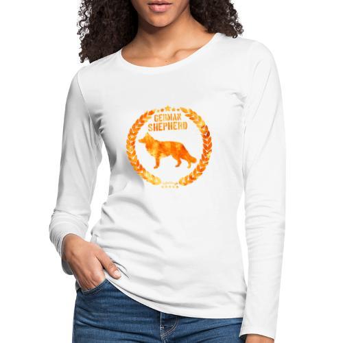 GSD Copper Army - Naisten premium pitkähihainen t-paita