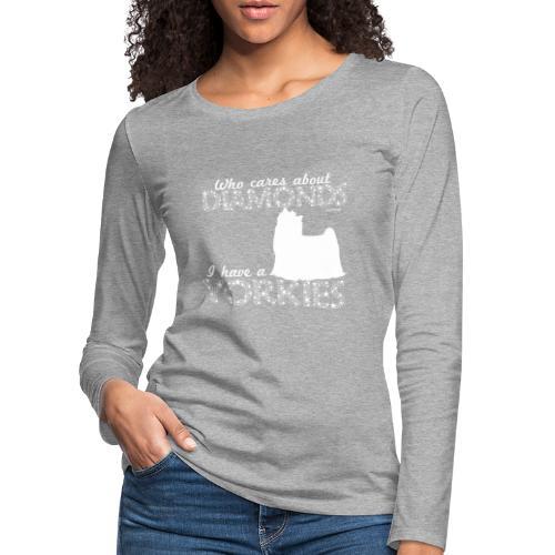 yorkiediamonds2 - Naisten premium pitkähihainen t-paita