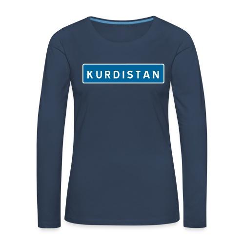 Kurdistanskylt - Långärmad premium-T-shirt dam