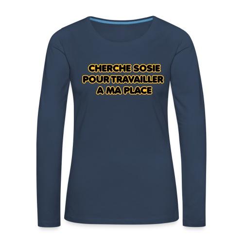 cherche_sosie2 - T-shirt manches longues Premium Femme