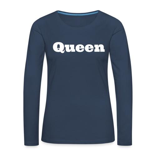 Snapback queen zwart/blauw - Vrouwen Premium shirt met lange mouwen
