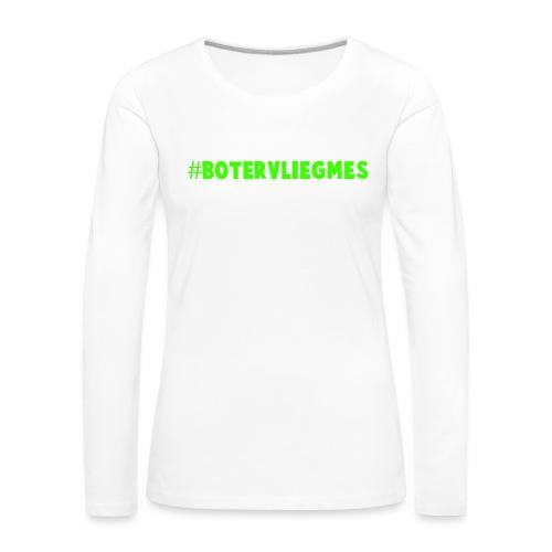 Botervliegmes hoodie (mannen) - Vrouwen Premium shirt met lange mouwen