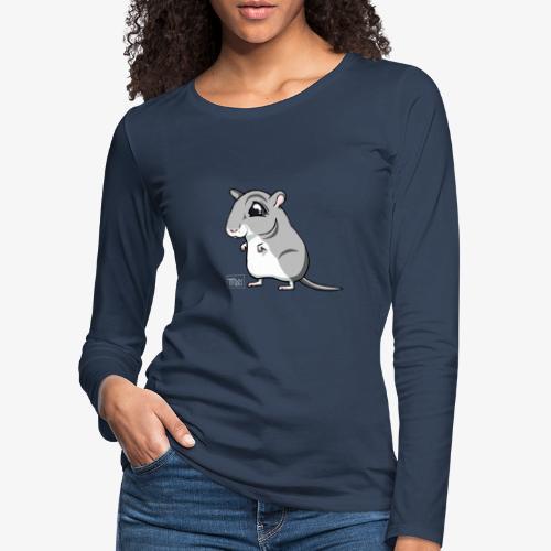 Gerbiili II - Naisten premium pitkähihainen t-paita