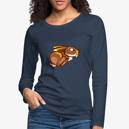 Speedy Bunny II - Naisten premium pitkähihainen t-paita