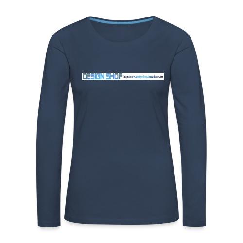 ny logo lang - Premium langermet T-skjorte for kvinner